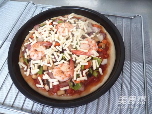 鲜虾披萨的制作方法