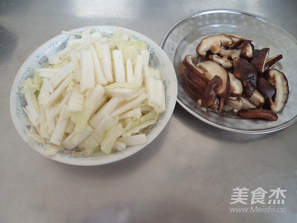 香菇白菜的做法图解