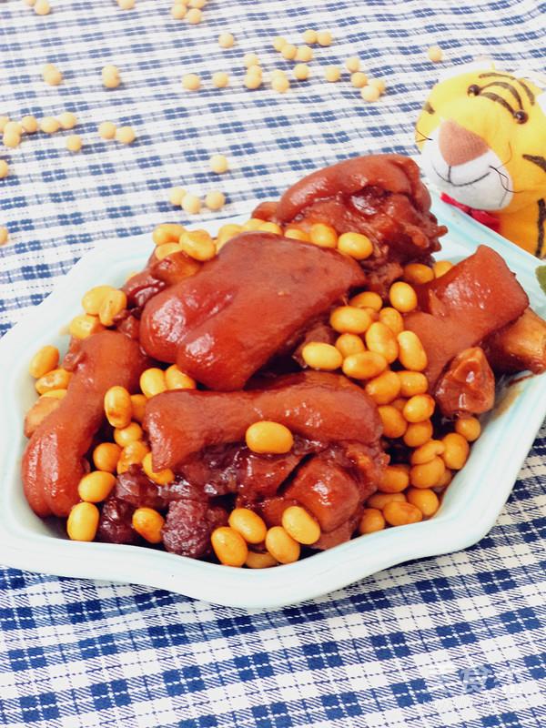 黄豆烧猪蹄成品图
