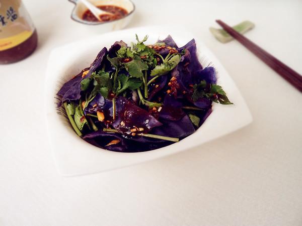 麻辣紫甘蓝成品图