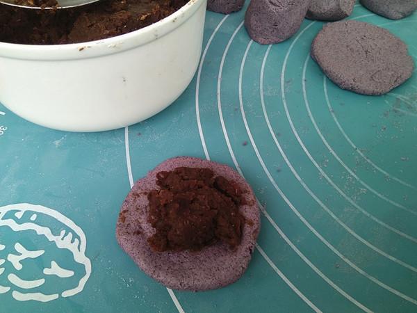 紫米粉豆沙馅糯米饼的简单做法