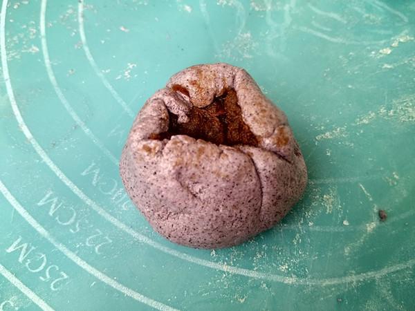紫米粉豆沙馅糯米饼怎么吃