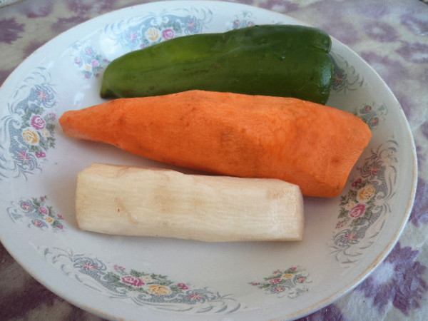 山药青椒胡萝卜的做法大全