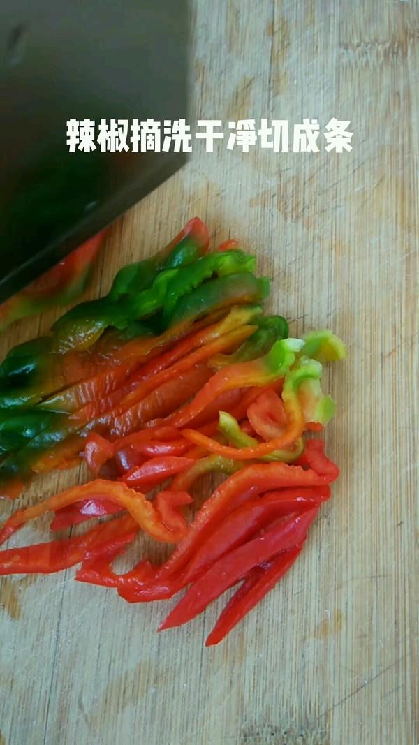 杏鲍菇炒辣椒的做法图解