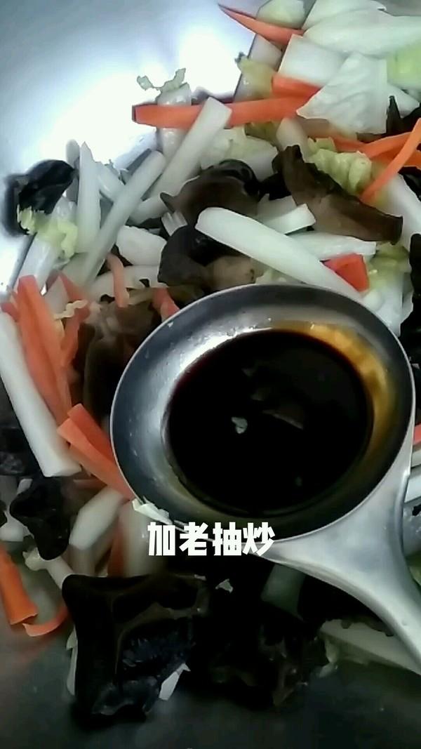 大白菜烧木耳的步骤