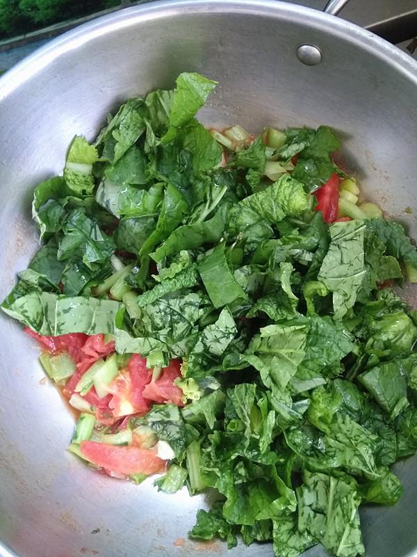 西红柿炒小白菜怎么吃