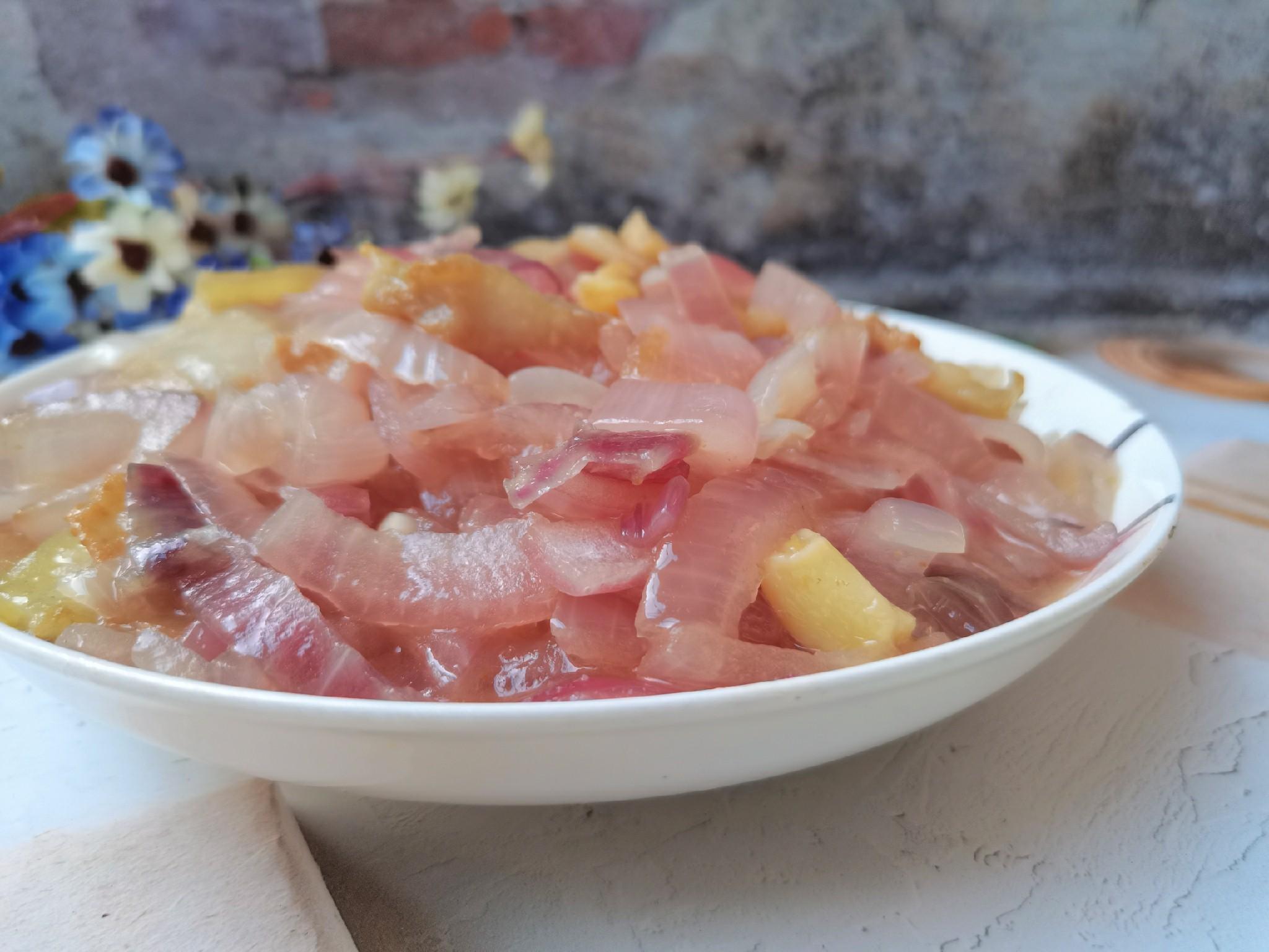 洋葱炒肉片成品图