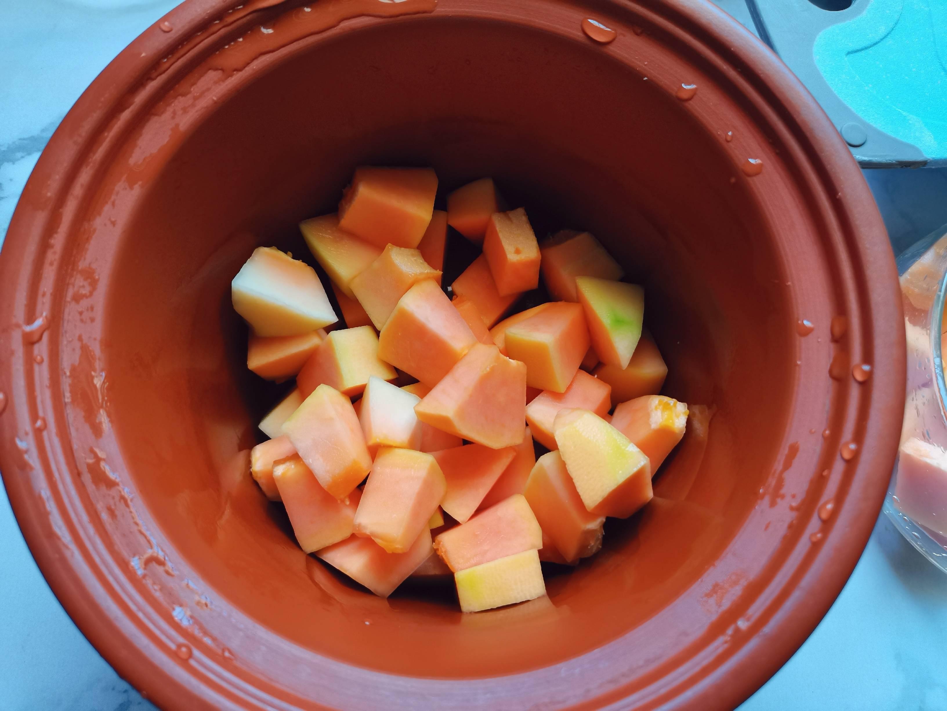 木瓜炖牛奶怎么吃