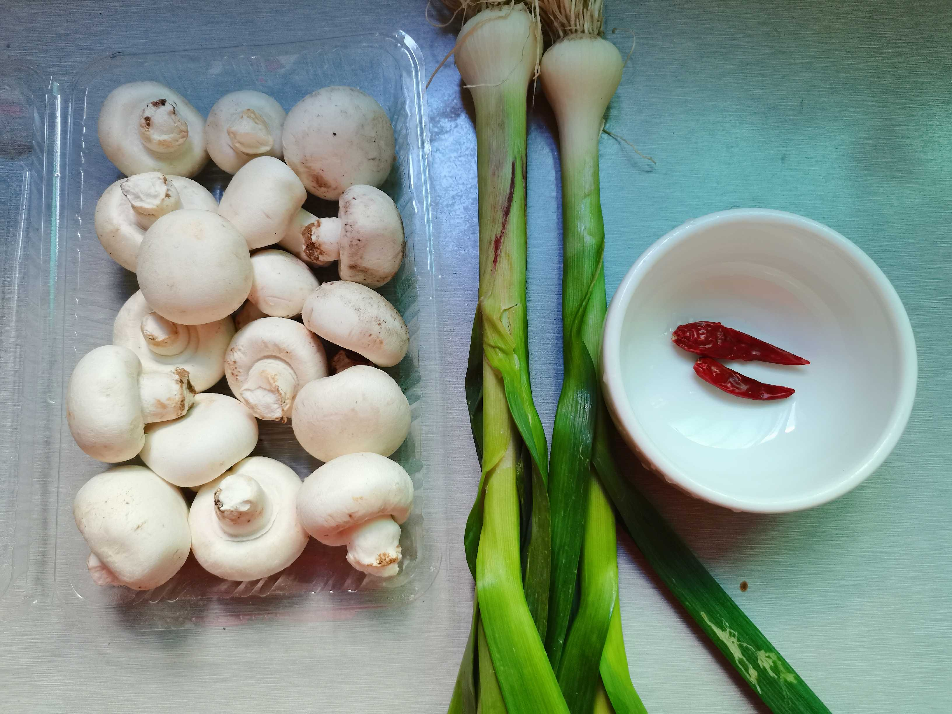 葱香口蘑的做法大全