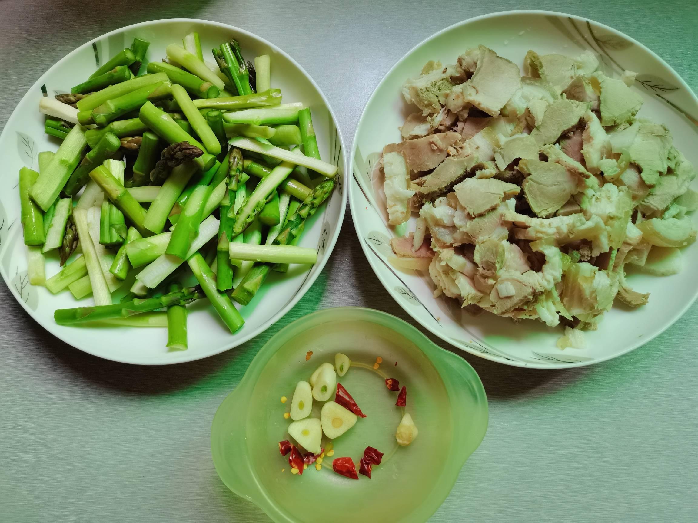 绿芦笋炒肉片的做法图解