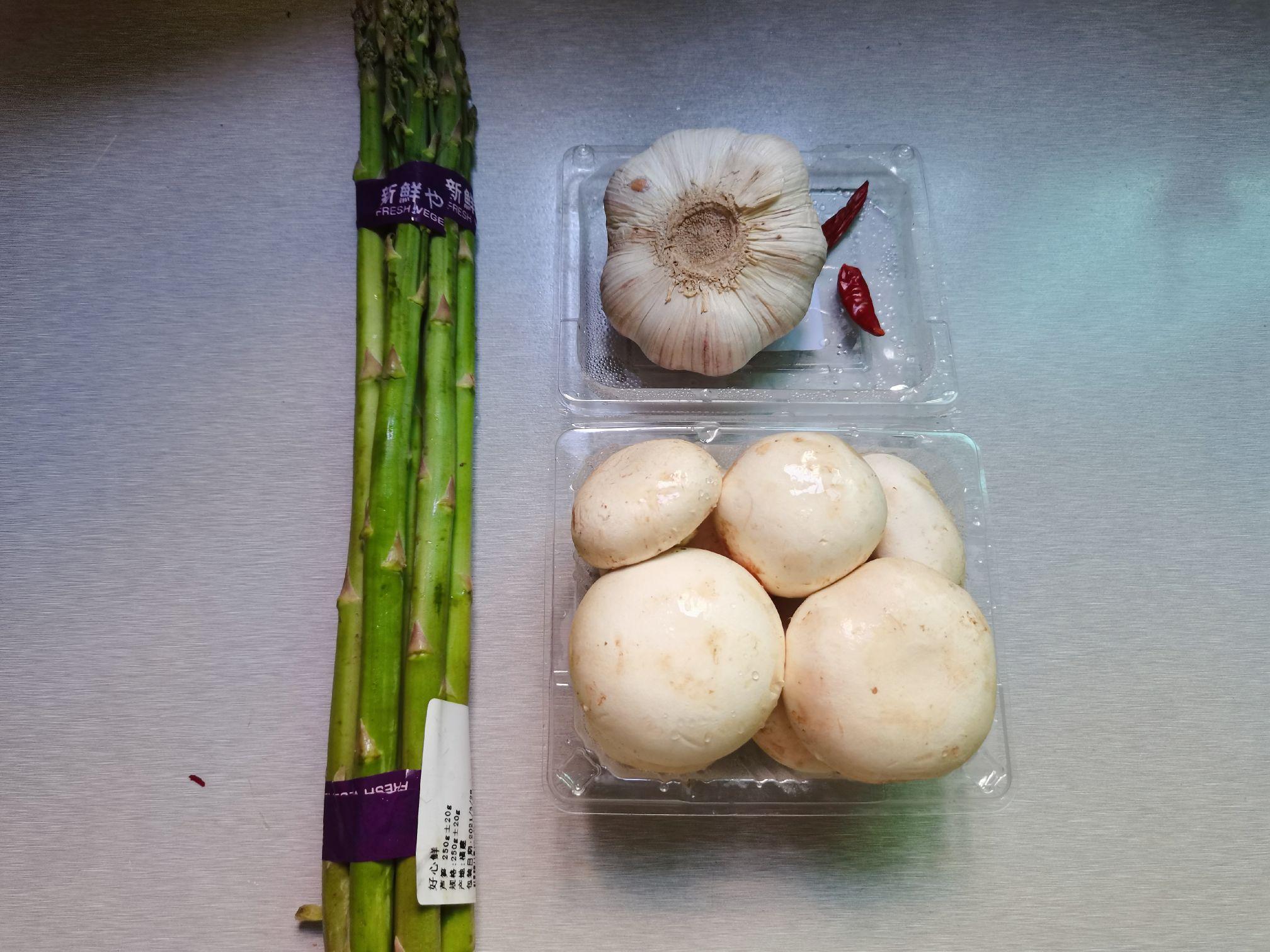 绿芦笋炒口蘑的做法大全