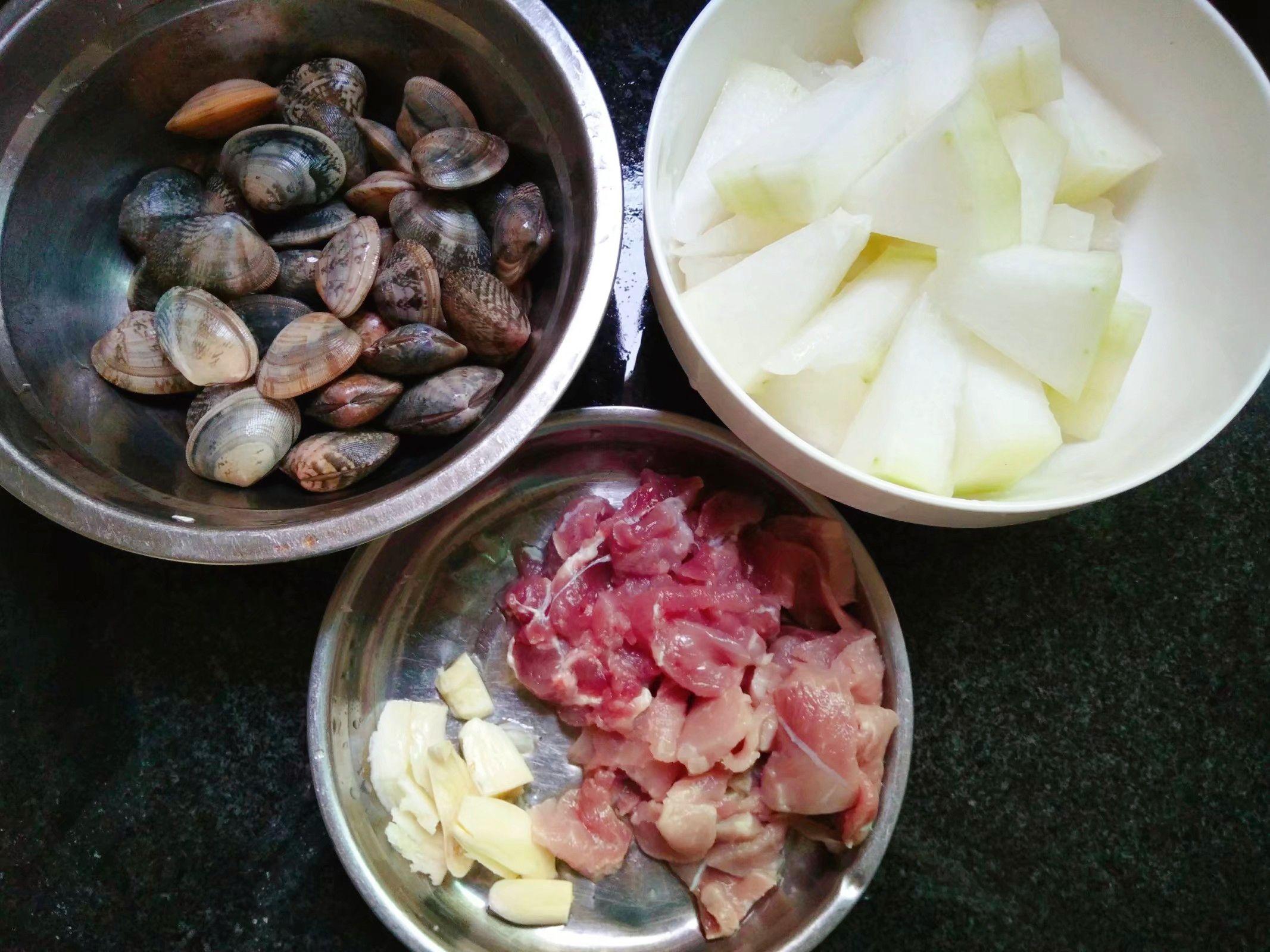 冬瓜花蛤肉片汤的做法图解