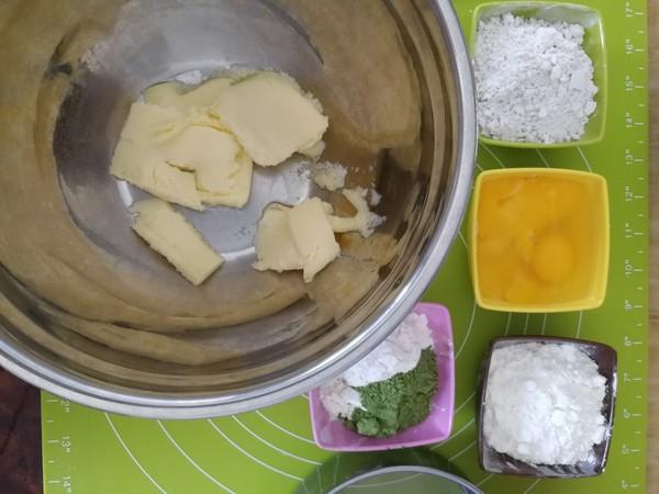 香草抹茶双拼磅蛋糕的做法大全