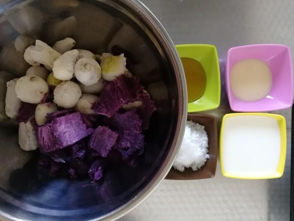 紫薯芋泥拉丝面包的家常做法