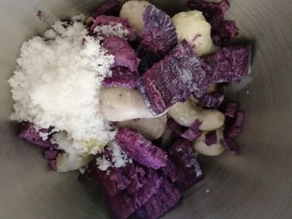 紫薯芋泥拉丝面包的简单做法