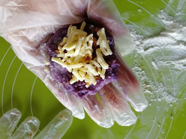 紫薯芋泥拉丝面包的制作方法