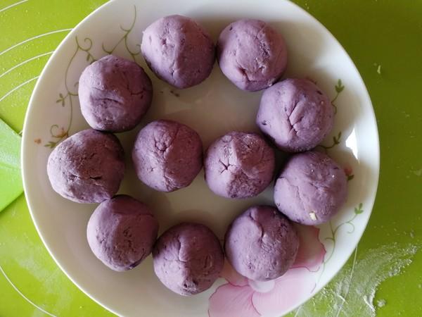 紫薯芋泥拉丝面包的制作大全