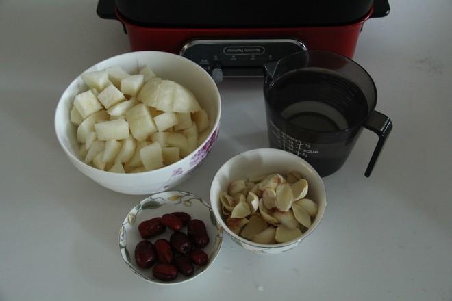 秋日暖汤,百合雪梨汤的做法图解