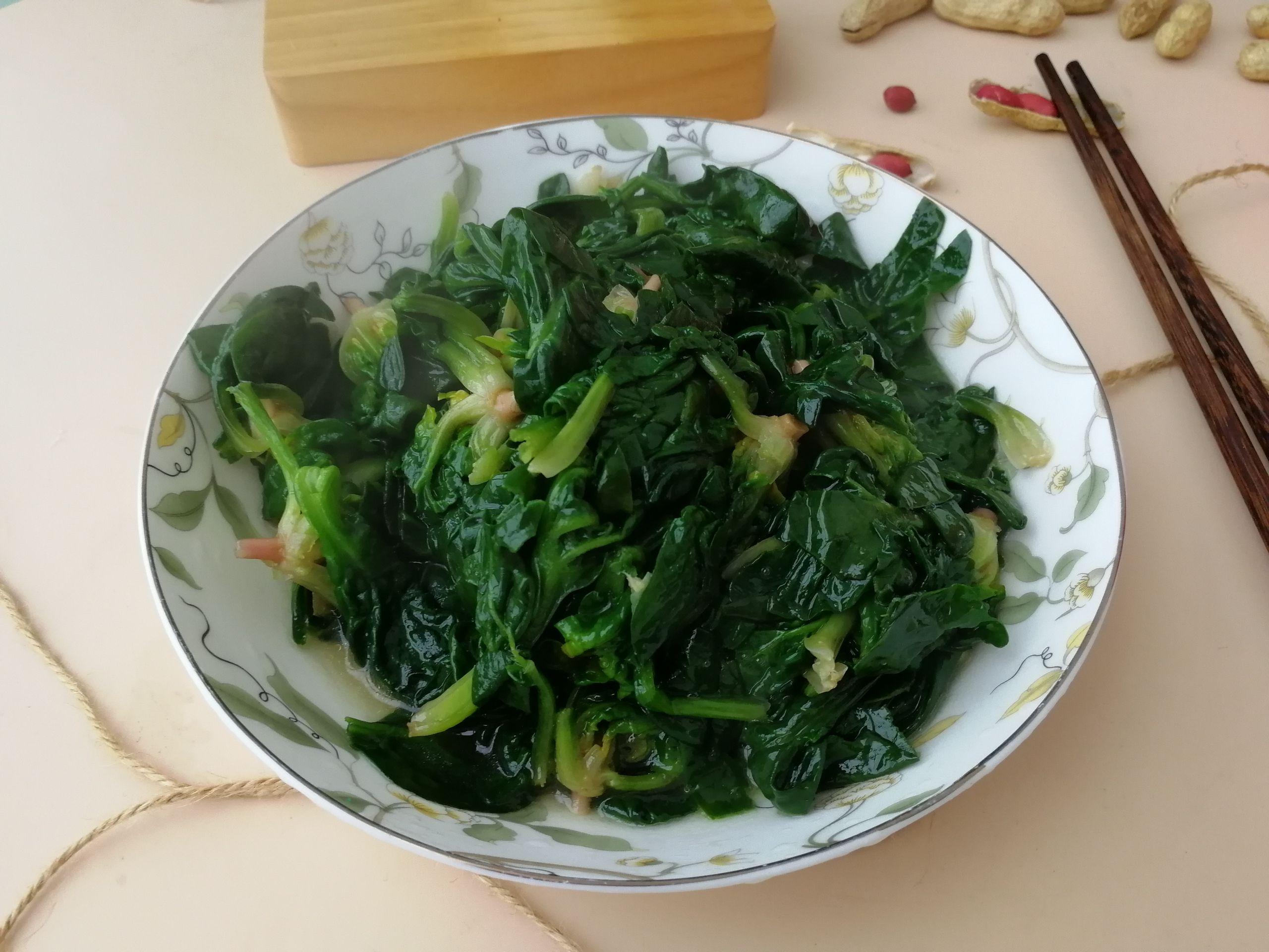 清炒菠菜怎么做