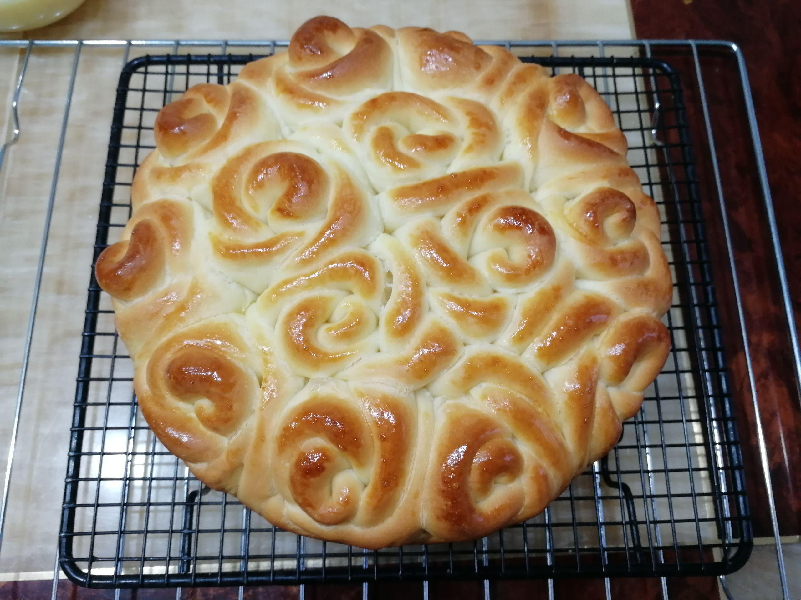 玫瑰花挤挤面包的制作方法
