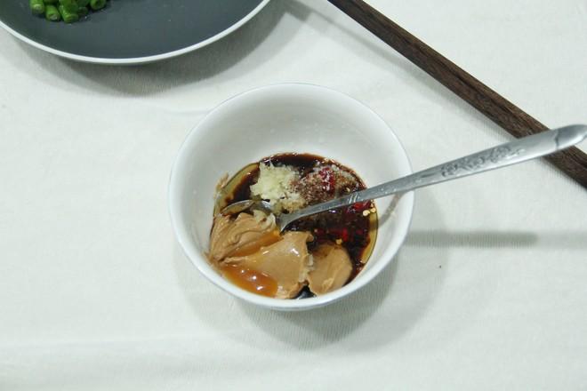 不一样的家常菜,花生酱蘸汁豆角怎么吃