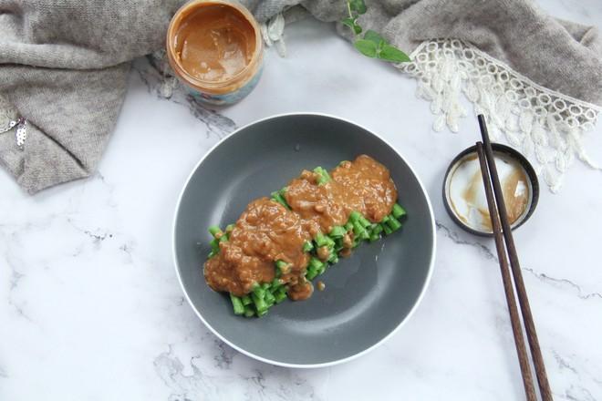 不一样的家常菜,花生酱蘸汁豆角怎么做