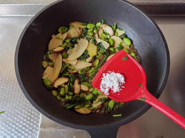 好吃下饭小菜,雪里蕻笋片香菇炒豆瓣怎么做