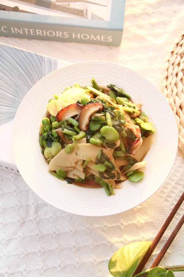 好吃下饭小菜,雪里蕻笋片香菇炒豆瓣成品图