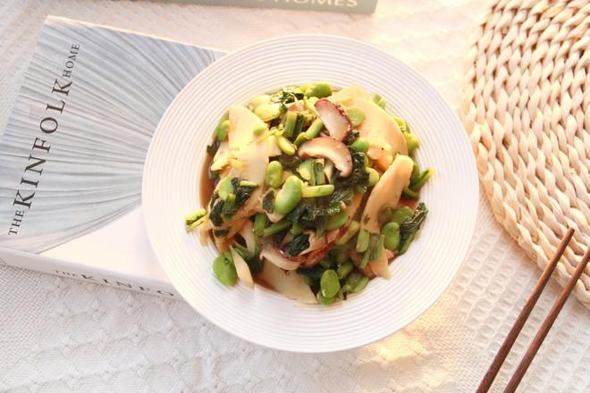 好吃下饭小菜,雪里蕻笋片香菇炒豆瓣怎么炒