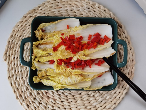 脆嫩锡纸红椒烤娃娃菜,快手又解馋的简单做法