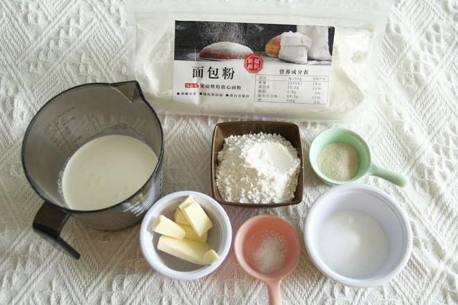 整形快手的沙拉酱肉松花型餐包的做法大全