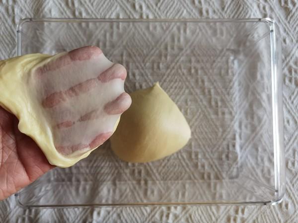 整形快手的沙拉酱肉松花型餐包的简单做法
