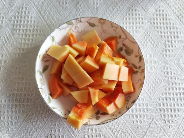 冰糖牛奶木瓜炖雪蛤怎么炒