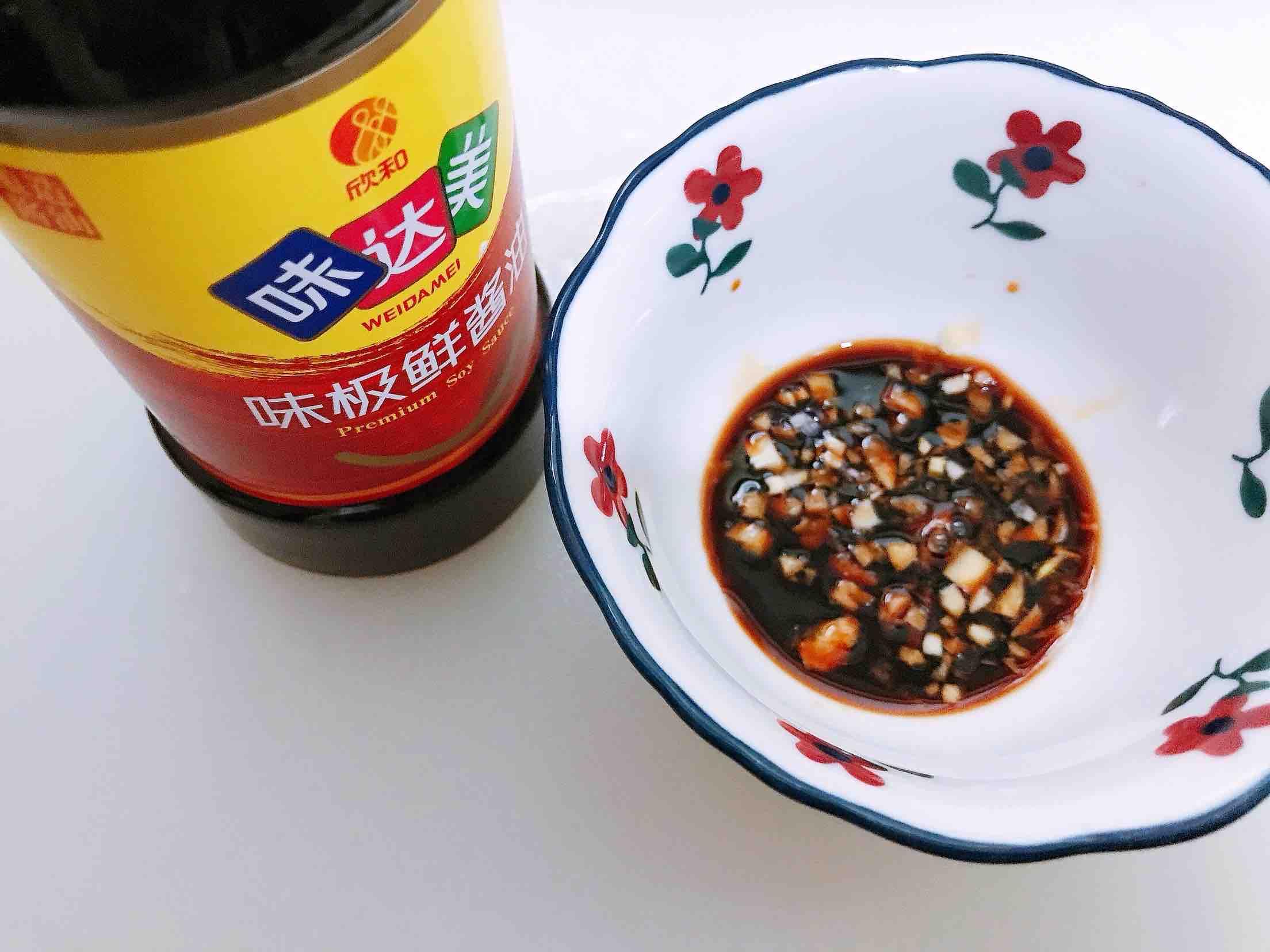 捞汁虾仁豆腐的步骤