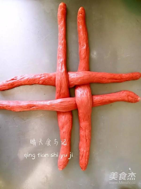 富贵吉祥中国结花包!怎么吃