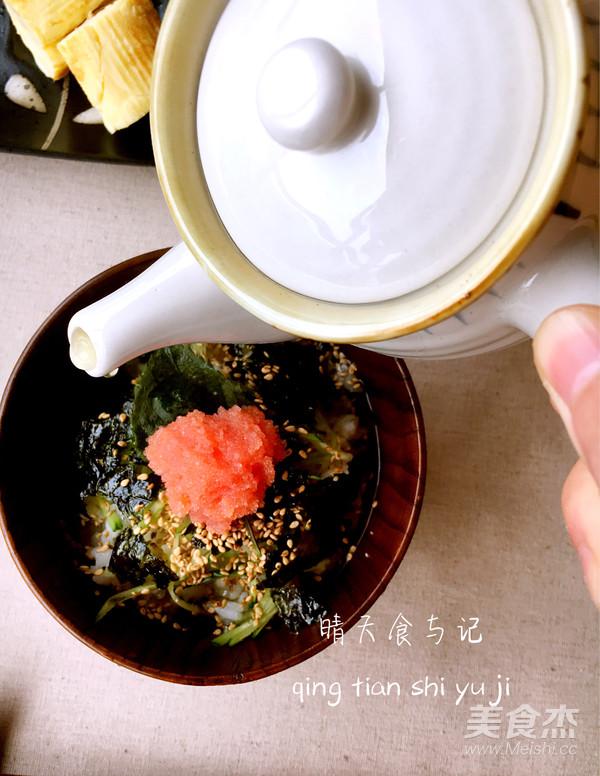 清新鲜美明太子绿茶饭!怎么炖