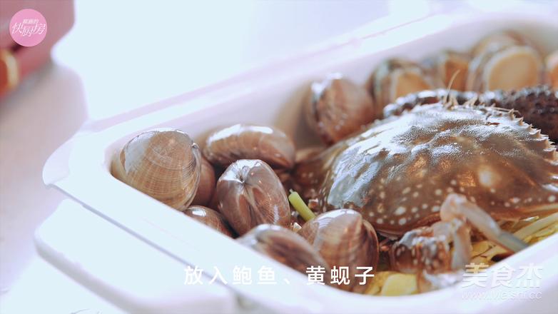 鲜的吞掉舌头的大满足海鲜锅怎么煮