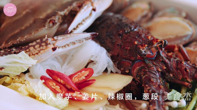 鲜的吞掉舌头的大满足海鲜锅怎样煸