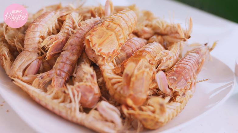 皮皮虾两吃成品图