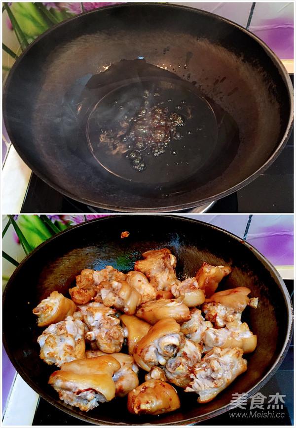 香辣猪蹄焖黄豆的家常做法
