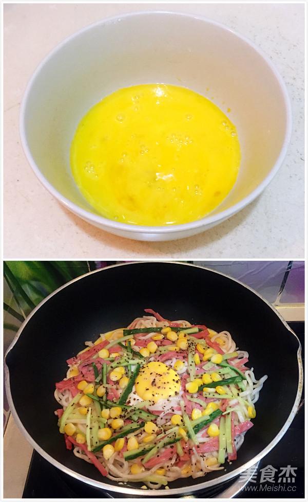 培根鸡蛋煎面怎么做