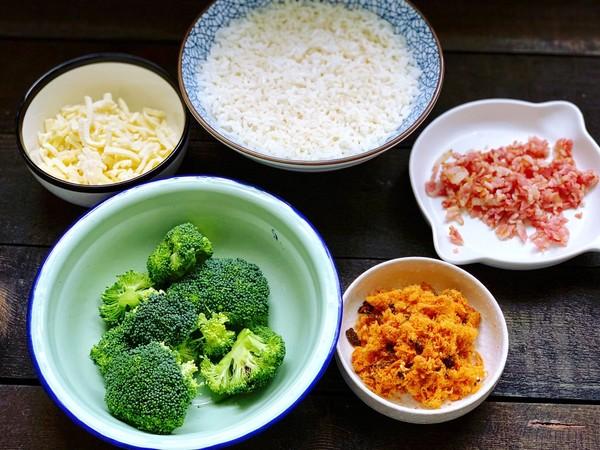 西兰花胚芽米饭团的做法图解