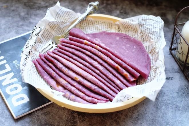 紫薯薄饼怎样煸