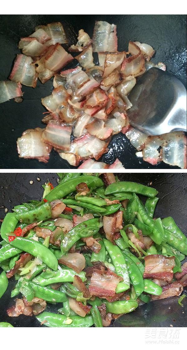 羌山老腊肉炒豌豆片怎么吃