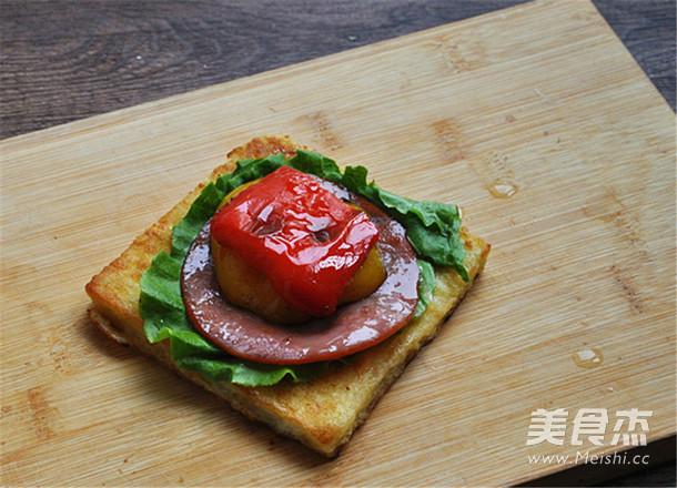 彩椒火腿三明治怎样炒