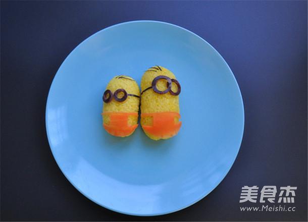 栀子花小黄人饭团怎么吃
