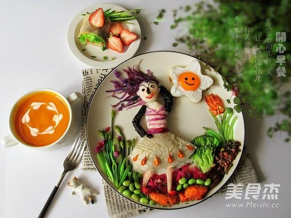 春暖花开趣味餐的制作