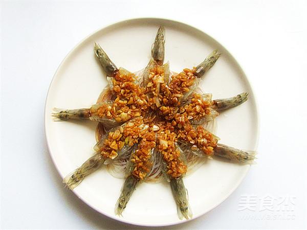 花开蒜蓉粉丝开背虾怎样做