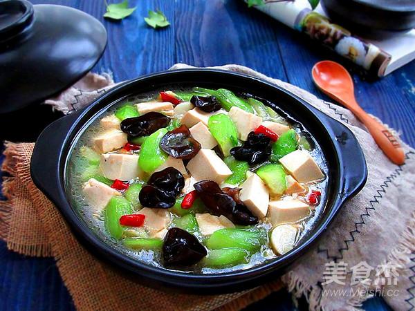丝瓜炖豆腐怎样煸