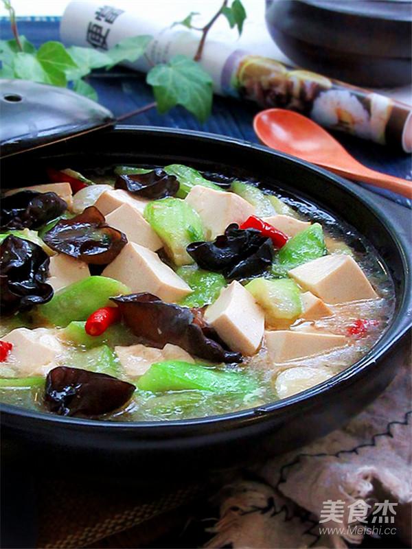 丝瓜炖豆腐怎样做